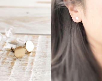 Studs, Classic Studs, Stud Earrings, Tiny Circle Studs, Circular Stud Earrings, Circle Stud Earrings, Gold Dot Studs, In Gold and Rose Gold