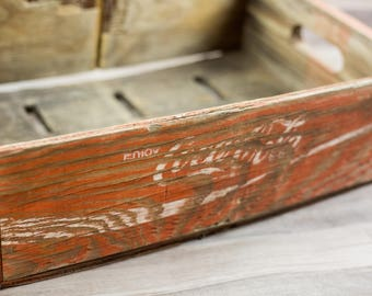 Vintage Coca Cola Soda Crate Wooden Home Decor Storage