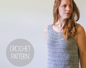 CROCHET PATTERN - easy summer tank top - the Sullivan Tank