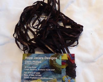 5 x 2m hand dyed silk embroidery ribbons 4mm wide - SER19