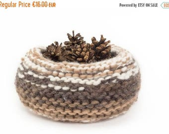 ON SALE WOOLY nest bowls - attractive + practical, polychromatic bowls - browns