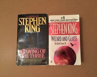 Lot of 2 The Drawing of The Three by Stephen King (90's Paperbacks)