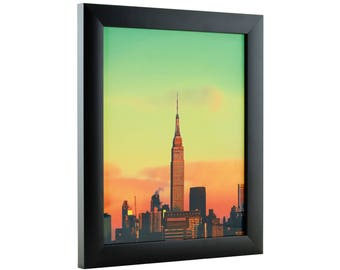 "Craig Frames, 16x16 Inch Modern Black Picture Frame, Contemporary 1"" Wide (1WB3BK1616)"