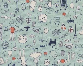 PRESALE - Lil' Monsters - Party in Mint - Cotton + Steel - 5127-01 - 1/2 Yard