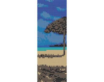 Beach Loom Bead Pattern, Bracelet Cuff, Bookmark Pattern, Seed Beading Pattern Miyuki Delica Size 11 Beads - PDF Instant Download