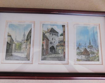 3 Vintage Signed Pictures Beautifully Framed