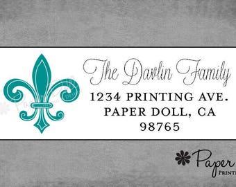 Return Address Labels - Classic Parisian Fleur De Lis Labels - Assorted Colors Available - Custom Personalized - Housewarming Gift**Davlin**