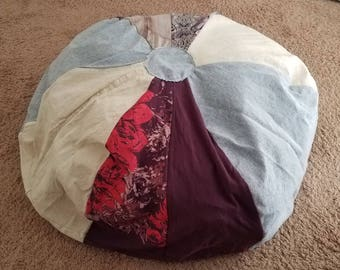 Bean Bag Chair Cover ~ Stuffed Animal Storage
