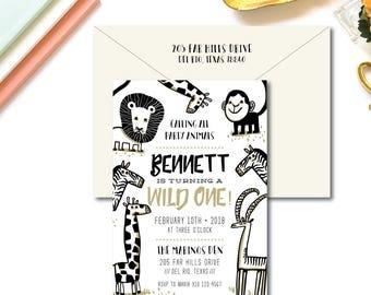 Party Animal Birthday Invitations