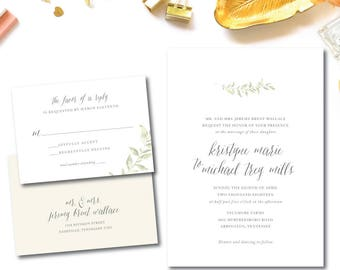Sycamore Wedding Invitation Suite