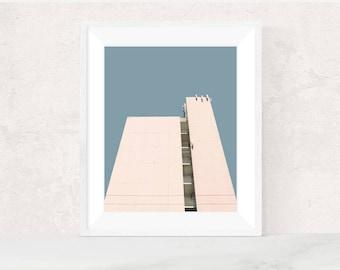 Digital download | MISSION 12 | Architecture photo | printable art | scandinavian art | minimalist photo print | modern urban photography