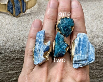 RAW APATITE RING - Pick from 2