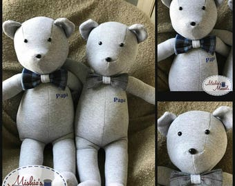 Memory Bear, Rememberance/ Keepsake (Custom Order)