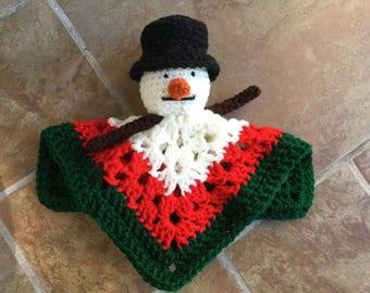Snowman Baby Lovie
