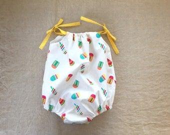 Baby girl romper bubble romper playsuit sunsuit baby shower gift