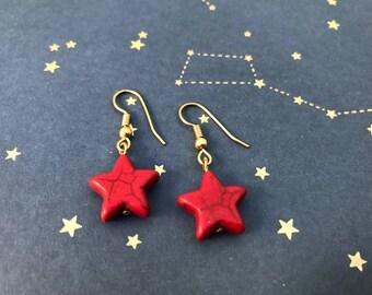 Star drop earrigs