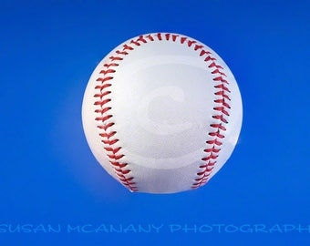 Baseball Photo, Baseball Clipart, Sports Clipart, Instant Download, Scrapbooking,  Sports Photograph, Baseball on Blue, Card Clipart