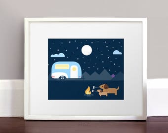 Darby + Dot™ - Glamping Adventure  - Art Print
