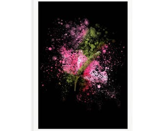 Anthurim Burst Black 11 x 17 inches (279mm x 432mm) - Instant Download Only