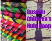 "CUSTOM Children's Hula Hoop 18""-30"" *YOu cHoOse CoLorS* Dance & Exercise Hula Hoop Push Button Hoola Hoop"