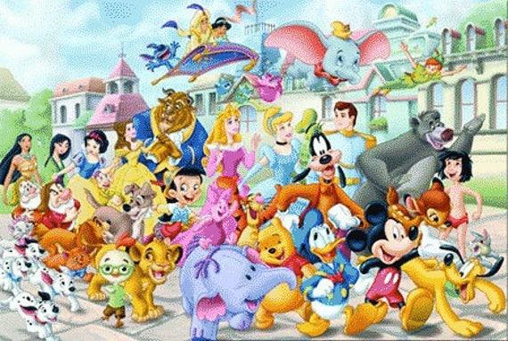 Disney Parade 14 Count Cross Stitch Chart /Kit