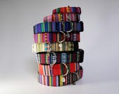 Adjustable Dog Collar, brightly colored boy + girl dog collar