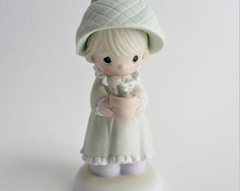 Vintage Precious Moments Figurine His Love Will Shine On You Special 1989 Limited Edition Collectible Easter Gift