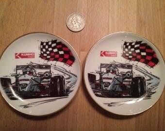 Set of 2 Collectible Porcelain Plates Kumho Tires Reutter Porzellan Germany