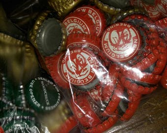 Approximately 539 Used Bottlecaps for Crafts