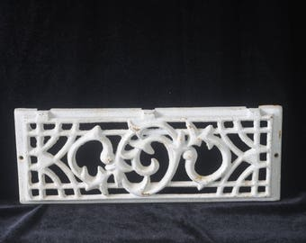 Vintage Cast Iron Salvage Grate Stove? Salvage White Iron Salvage