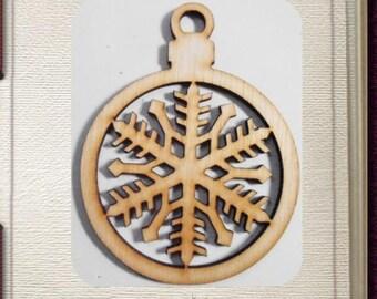 Snowflake Ornament - Laser Cut Wood