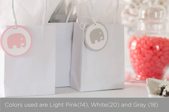 Baby Shower Party Favors Elephant ~ Elephant baby shower decoration elephant tags party favor tags