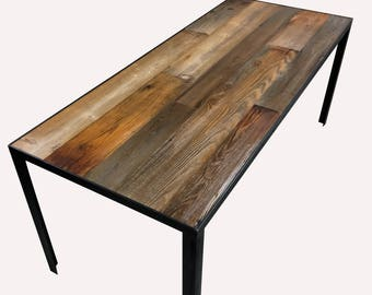 Reclaimed Wood Dining Table Etsy - Reclaimed wood dining table