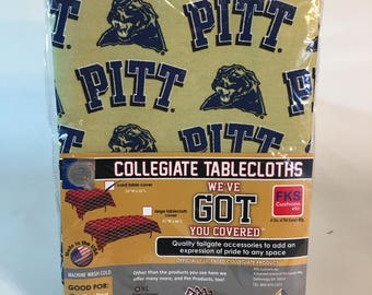 "University of Pittsburgh Table Cloth-52""X 52""-Pittsburgh Panthers Card Table Cover-Brand New-NCAA Table Cloths-for over 30 Schools"