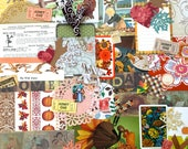 Fall Mix Ephemera Pack / 40+ Pieces / Mid Century Ephemera / Art Journaling / Junk Journaling / Mixed Media / Collage Art / Card Making
