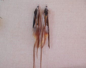 Real feather earrings handmade by me