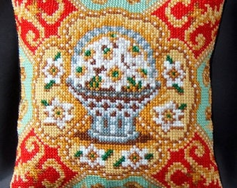 Spring Flowers inspired by Fabergé Mini Cushion Cross Stitch Kit