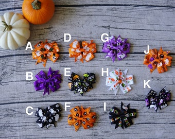 1 pair Halloween Hair Bows, baby girl Halloween, Halloween accessory, Halloween hair clips,Halloween hairbow, Halloween bow