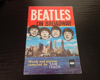 1964 Beatles On Broadway Souvenir Book by Sam Leach