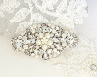 Pearl and Rhinestone Comb- Wedding Hair Accessories- Pearl Hairpiece- Rhinestone Wedding Comb- Bridal Hair Clip- Pearl Wedding Hairpiece