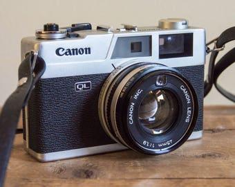 Canon Canonet QL 19, Canon Canonet, QL 19, Canon, Film Camera, 35mm Film, Photography, Film, 1960's, Vintage, Rangefinder, Style, Design,