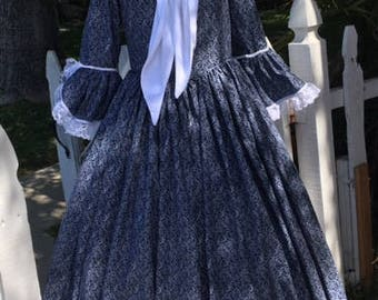 DAR GOWN revolutionary war gown colonial women dress martha washington gown 1776 made to your measurements choice of print &color