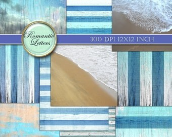 Nautical background digital scrapbook paper navy digital paper sea beach ocean beach digital nautical paper digital paper sea backdrop
