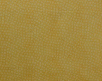Cotton Quilting Fabric, Yellow Fabric, Tiny Print Fabric, Cotton Fabric, Sewing Fabric Remnant, Daisy Fabric - 1 1/8 Yard - CFL2332