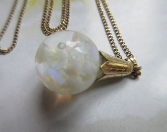 Vintage Floating Opals Necklace. Floating Opals In Gold Fill, October Birthstone, Estate Jewelry, Opal Necklace , Bridal Jewelry, Vintage