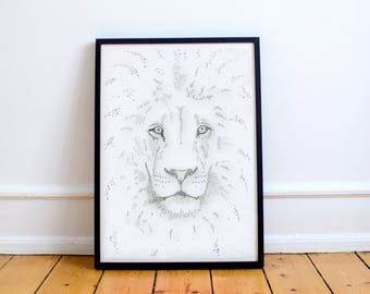 Printable, downloadable digital art- lion