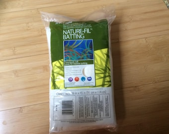 Fairfield Nature-Fil Batting - Craft Size - 36 in x 45 in - Cotton Bamboo blend