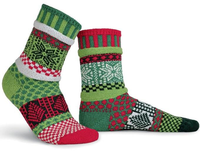 Solmate Socks - Mistletoe Crew