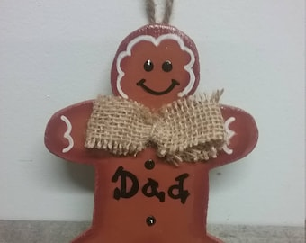 Dad Ornament, Ornament For Dad, Dad Christmas,Father Christmas Ornament,Father Ornament,Personalized Ornament,Gift For Dad,Dad Gift