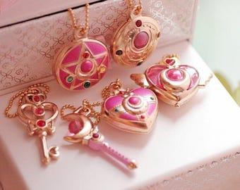 Last set- - - - - Japan Comic amine Sailor Moon Chibi moon Attack Baton Incarnations The Translate Crescent sticks Lanyards Mini Key Chains
